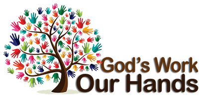 "Sign-up for ""God's work. Our Hands."" Service Sunday"